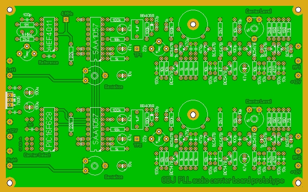 PLL Audio carrier board proto.JPG